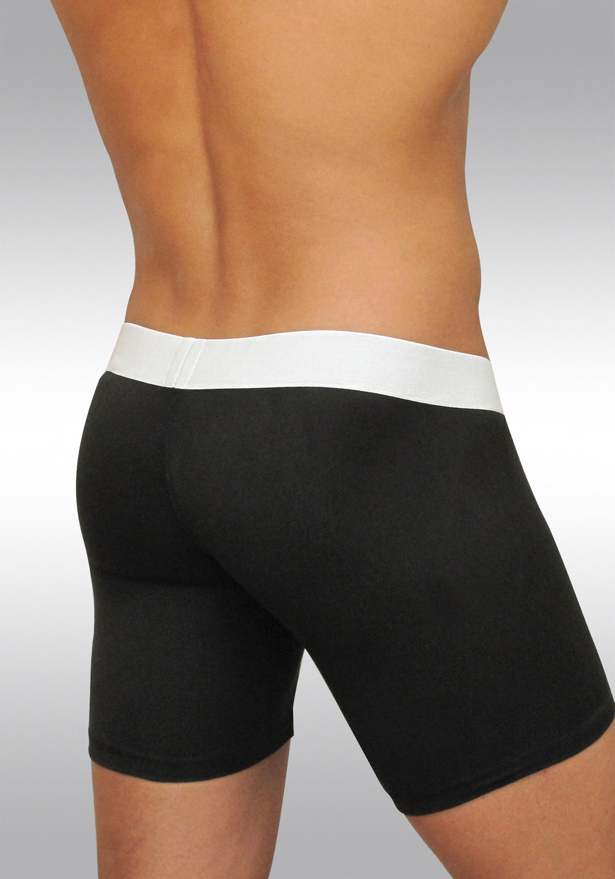 MAX Suave ergonomic microfiber midcut boxer brief - black - back