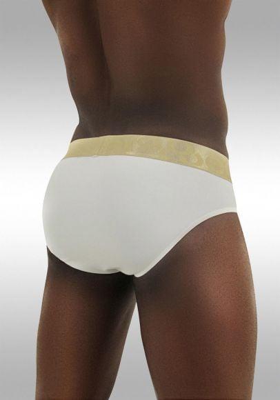 FEEL Classic XV - Men's Pouch Brief - White/Gold - Back