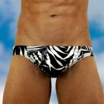 Men's bikini brief swimwear with pouch FEEL Agiba - front view