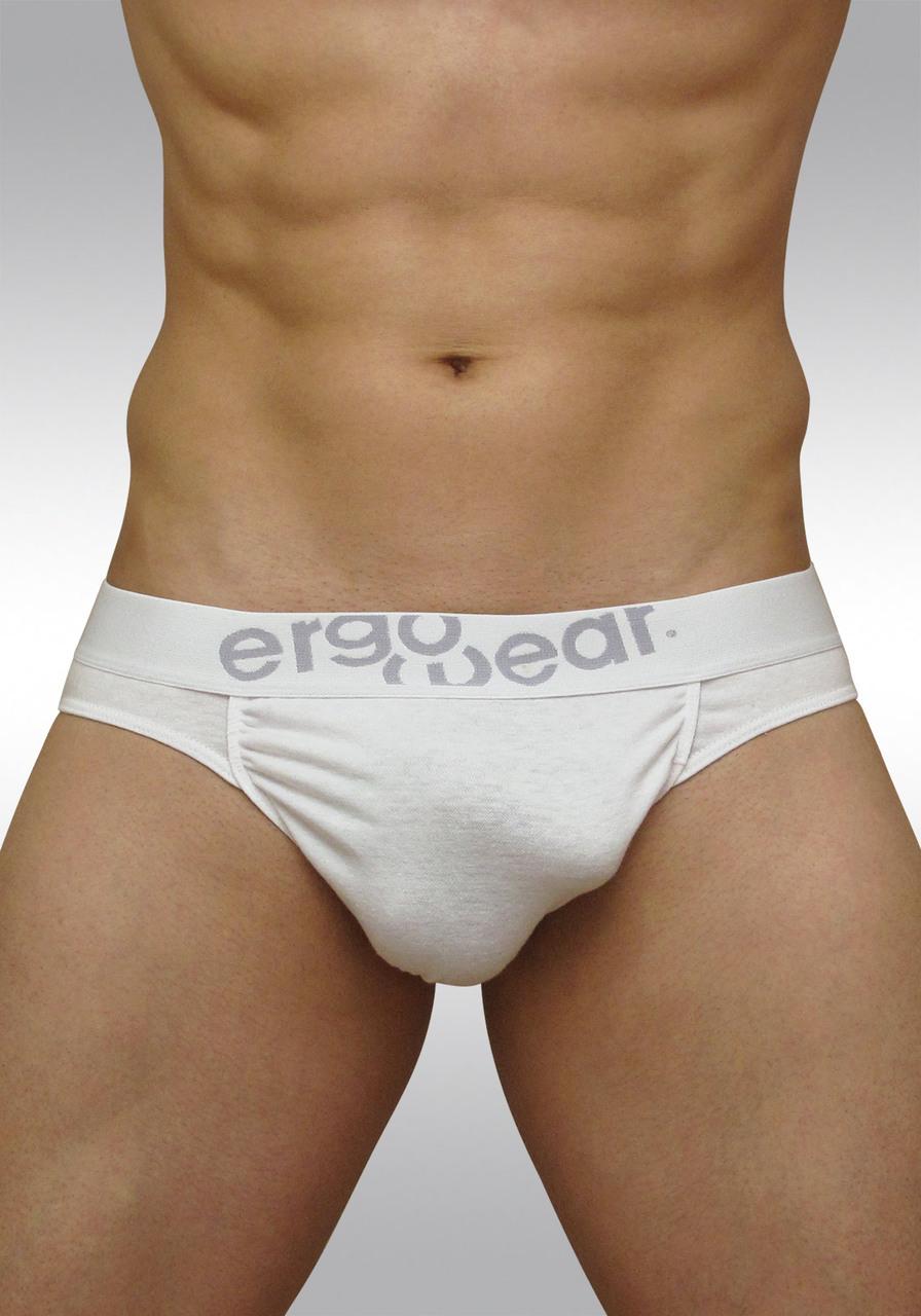 FEEL classic ergonomic men's pouch brief white - front B