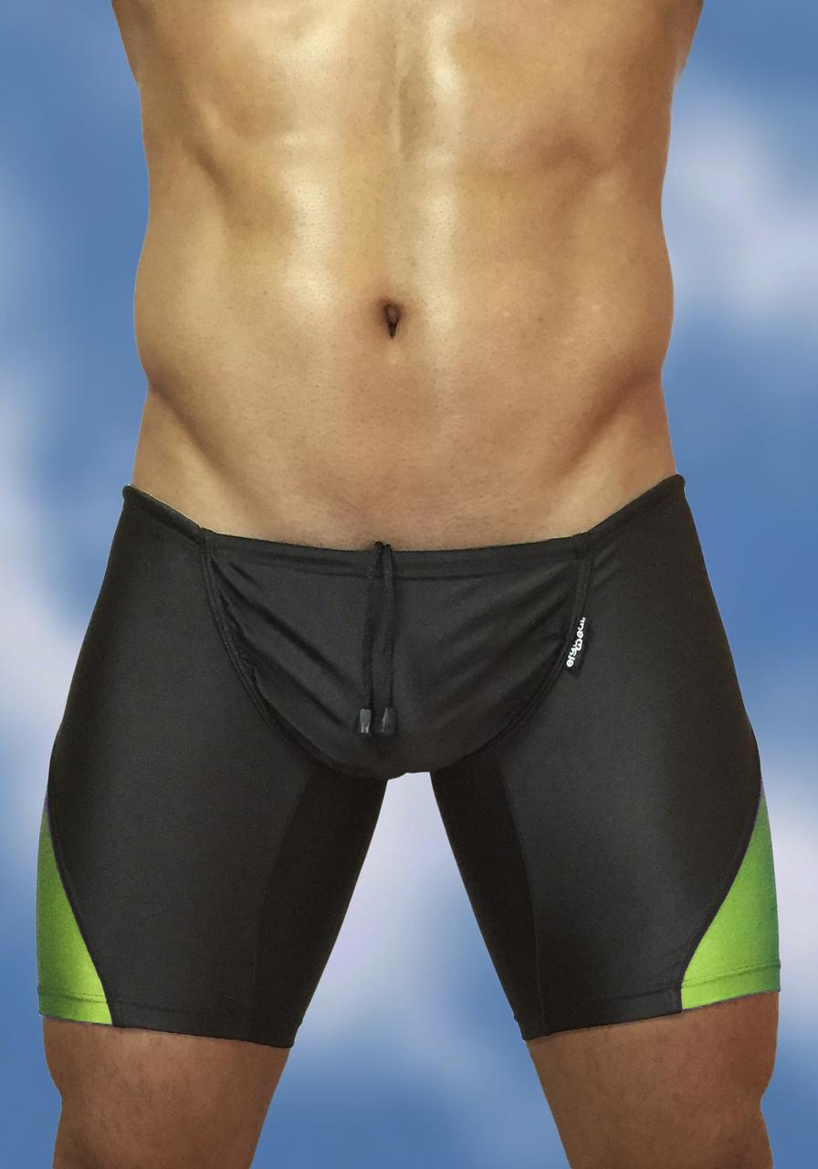 FEEL Swim Trunk Black/Lime Front