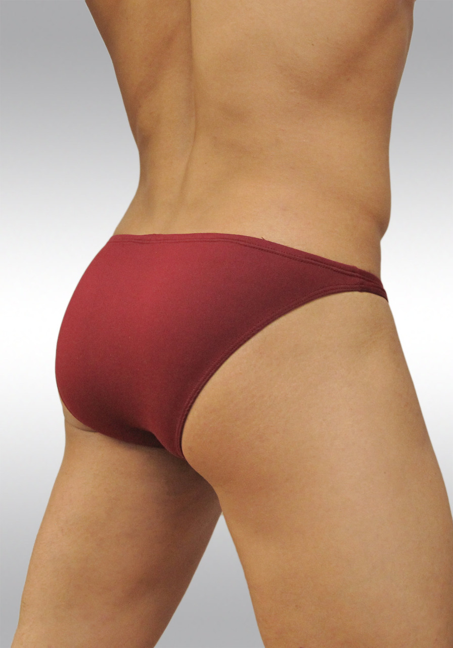 Microfiber Bikini Brief X3D Suave by Ergowear - Burgundy   Back