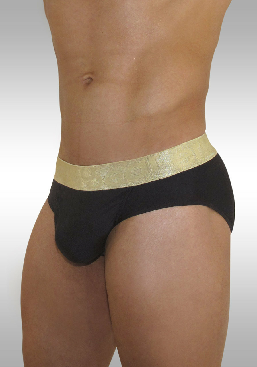 FEEL XV - Brief White/Gold - Side view