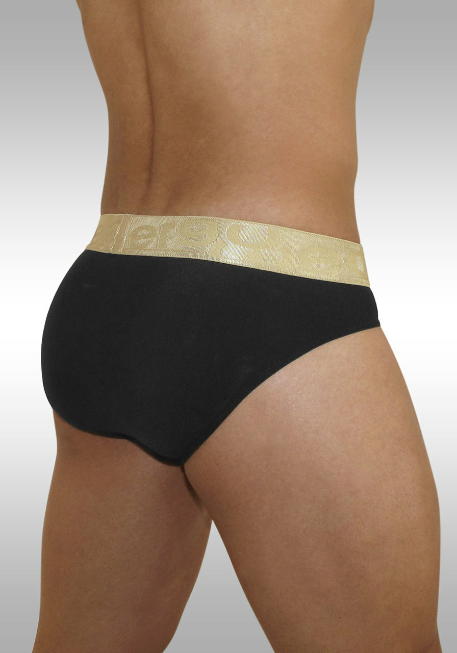 FEEL XV - Brief White/Gold - Back view