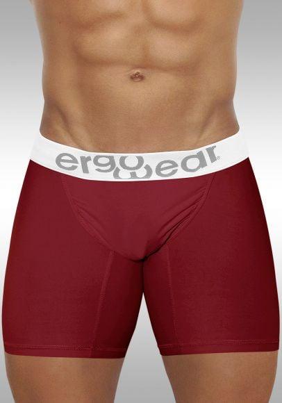 FEEL Modal Long Boxer Garnet - Front view