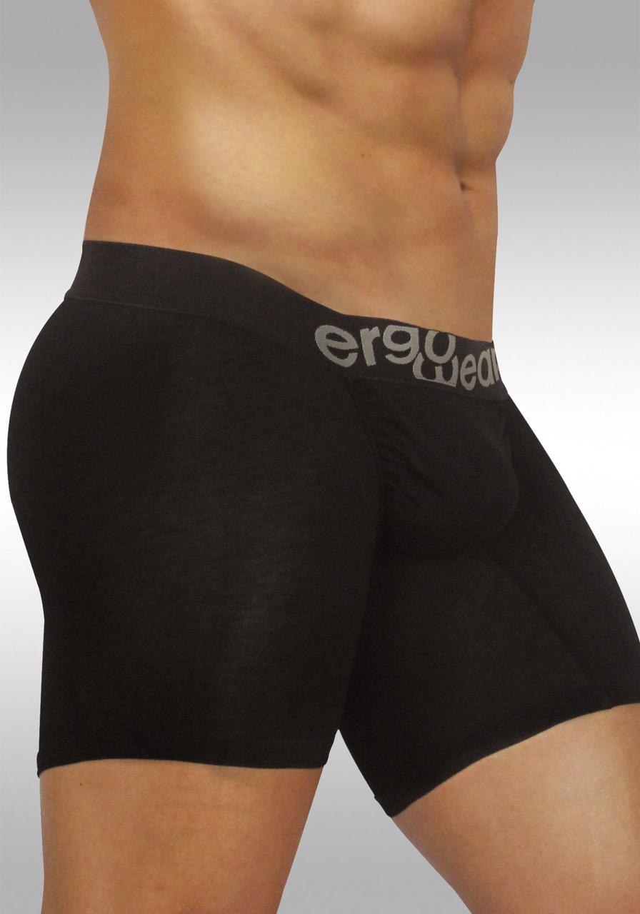 FEEL Modal Ergonomic Long Boxer Black - Side view 1
