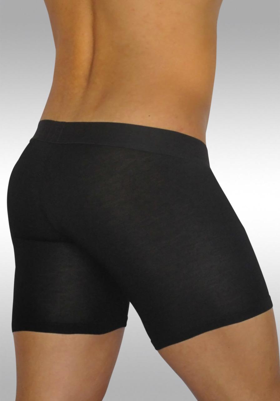 FEEL Modal Ergonomic Long Boxer Black - Back view 1
