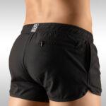 Men's Gym Short Black Rear View – Ergowear