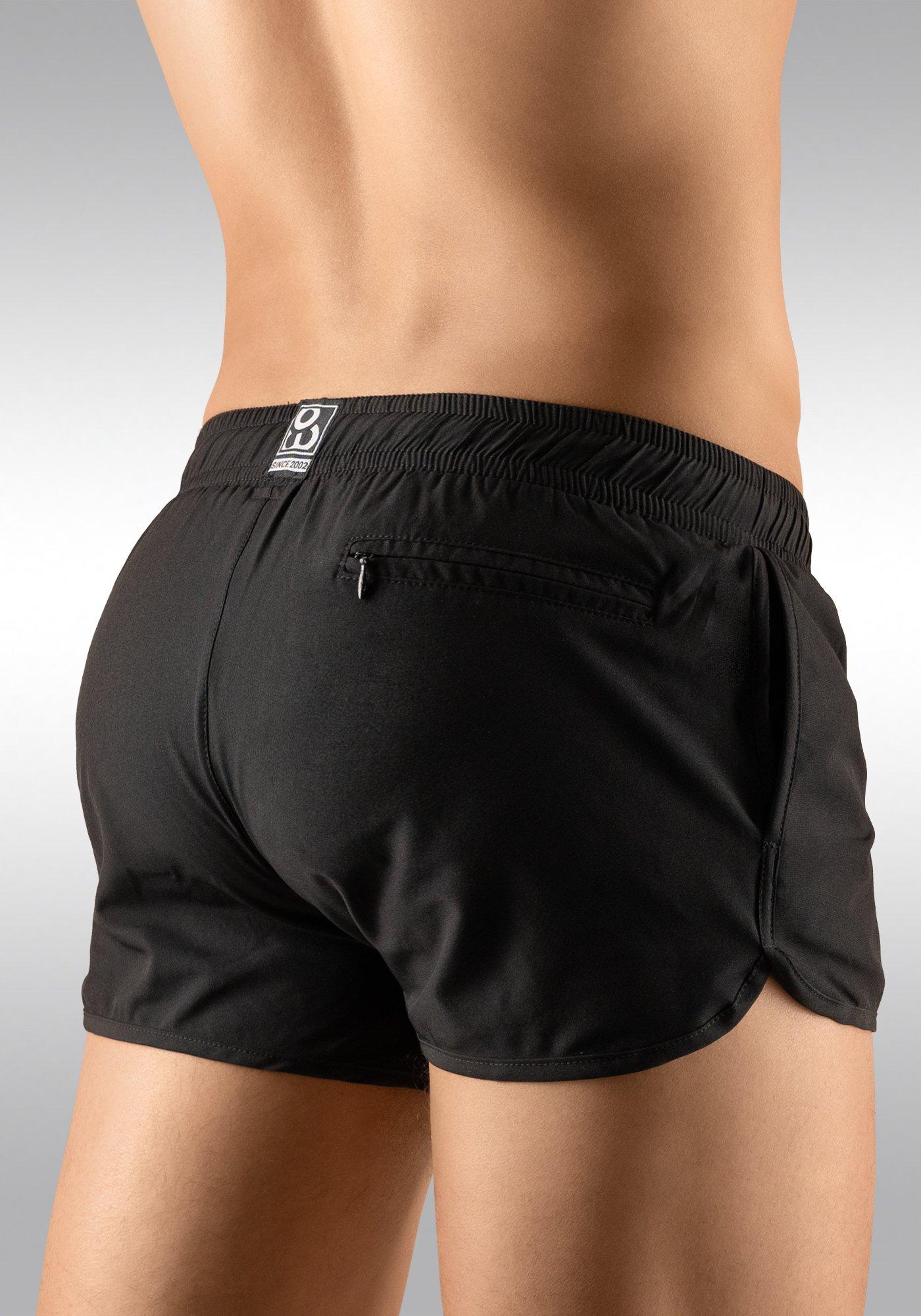 Men's Gym Short Black Rear View - Ergowear