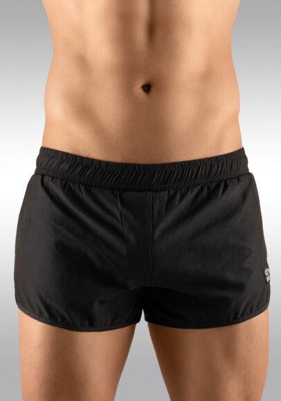 Men's Gym Shorts Black Front View - Ergowear