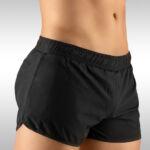 Men's Gym Short Black Side View – Ergowear