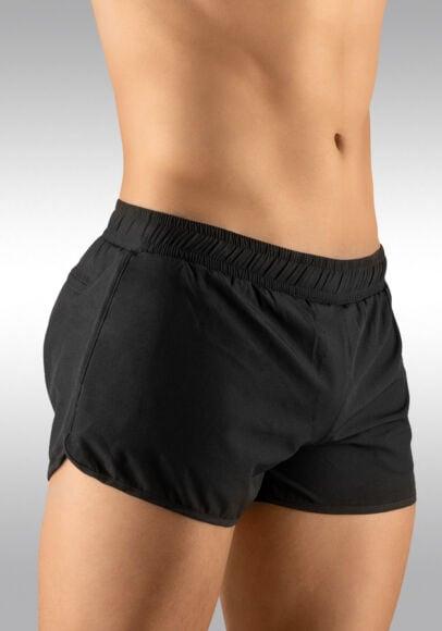Men's Gym Short Black Side View - Ergowear