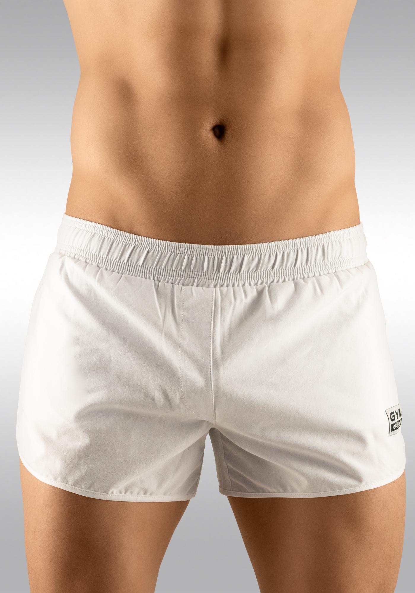 Men's Gym Shorts White - Ergowear