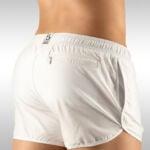 Gym Short White – Back View