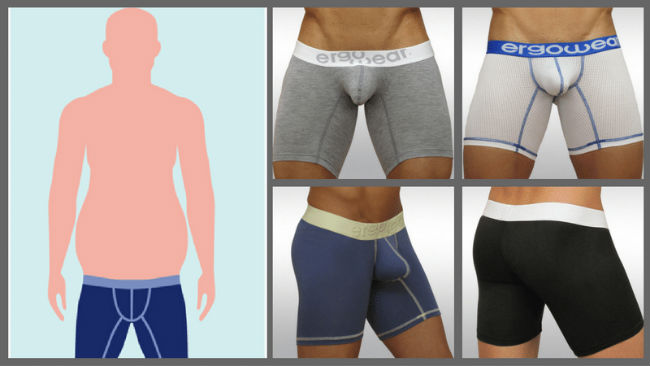 Pouch Underwear for Pear-shaped body types