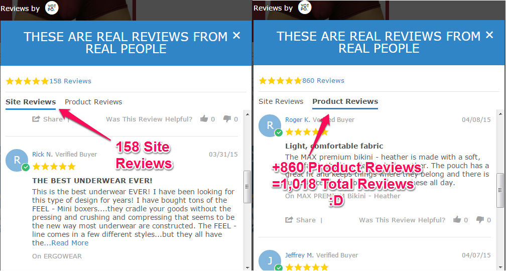 1,000 Reviews Powered by Yotpo