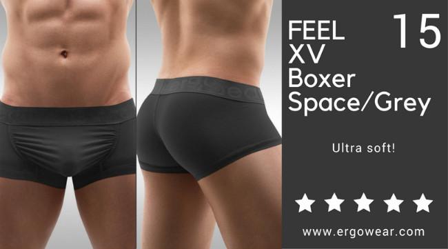 FEEL XV Boxer Space/Grey, ultra soft!