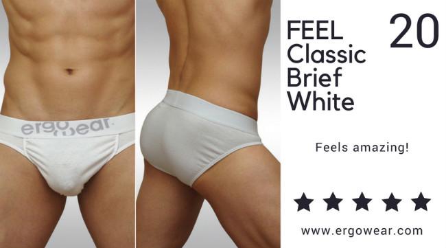 FEEL Classic Brief White, Feels Amazing!