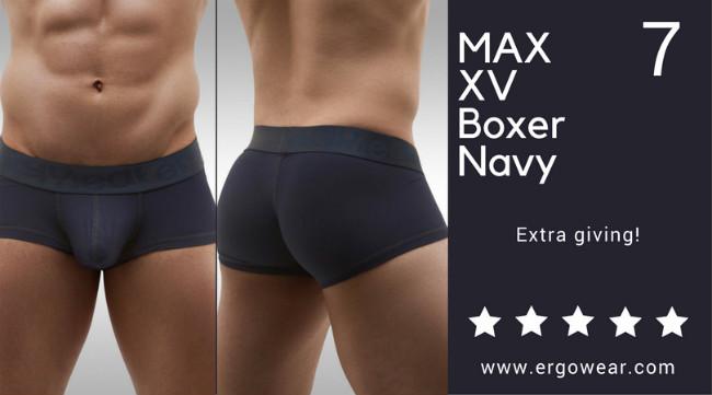 MAX XV Boxer Navy, extra giving!