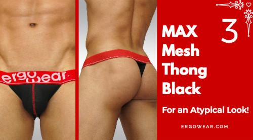 MAX Mesh Thong - Black