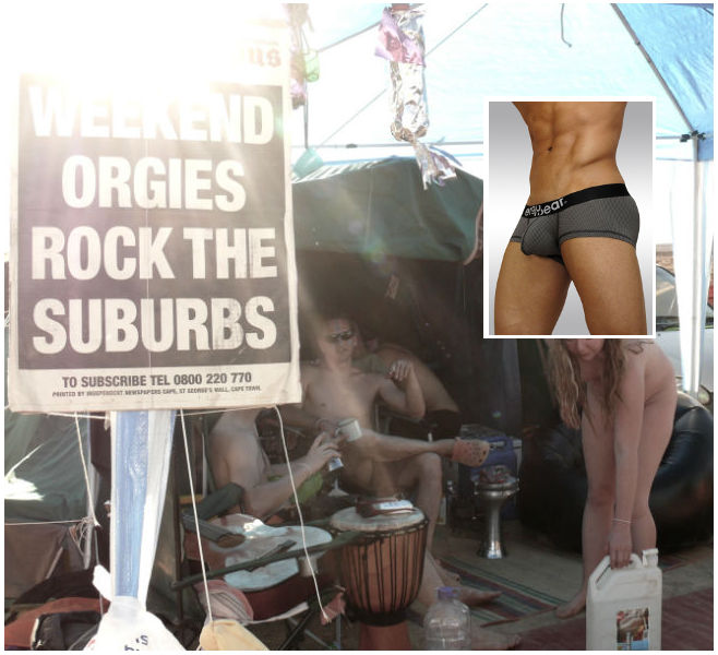 Show off your underwear in South Africa's AfrikaBurn