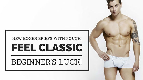 New Boxer Briefs With Pouch FEEL Classic: Beginner's Luck!