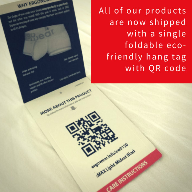 Hang tag with QR-code
