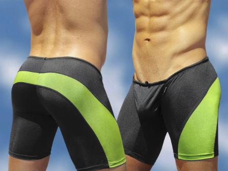 Men's Swim Trunk FEEL Black/Lime