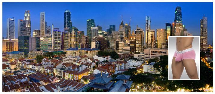 Show off your underwear in Singapore Golden Jubilee