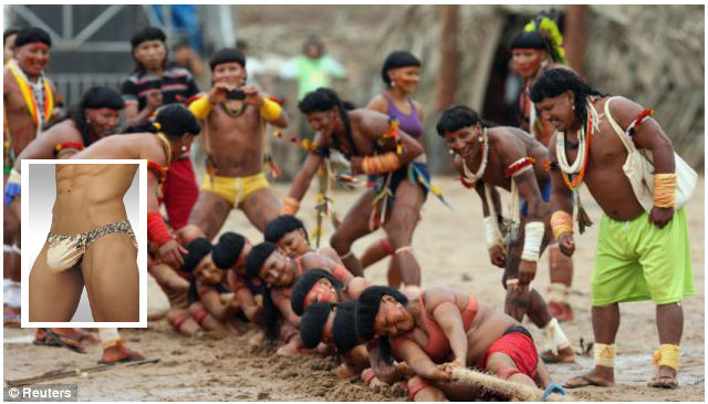 Show off your underwear in Brazil World Indigenous Games