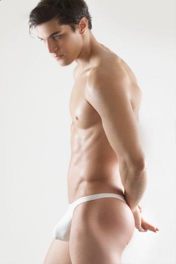 X4D male thong white